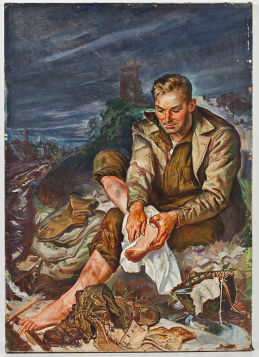 Trench Foot, Oil on Canvas Painting ($100-200)