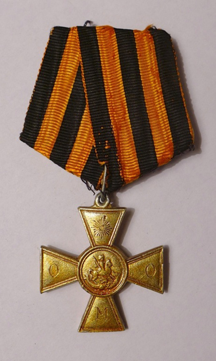 Russian St. George Cross of Ataman Semenov with twig of Special Manchurian Group, ex Gene Christian collection.