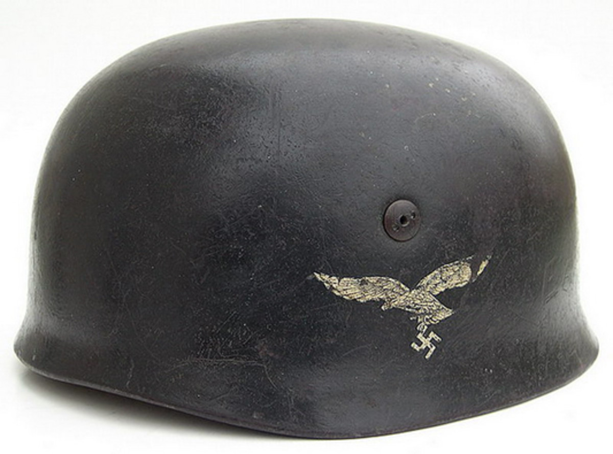 "Treasures can be still found, such as this Fallschirmjäger helmet. Reality television shows, however, have changed the ""reality"" of hunting for treasures at garage and estate sales, flea markets, or antique shops."