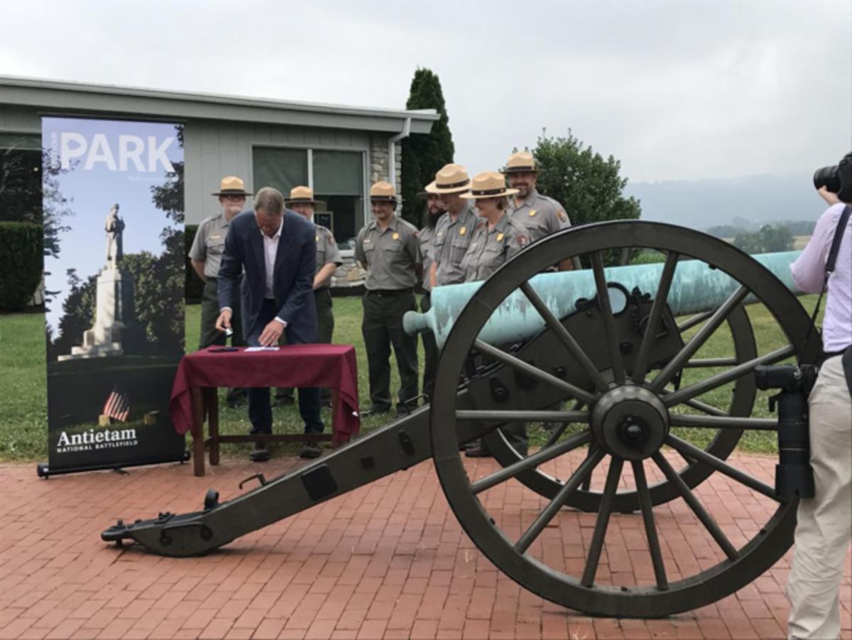 U.S.InteriorSecretary Ryan Zinke at Antietam National Battlefield