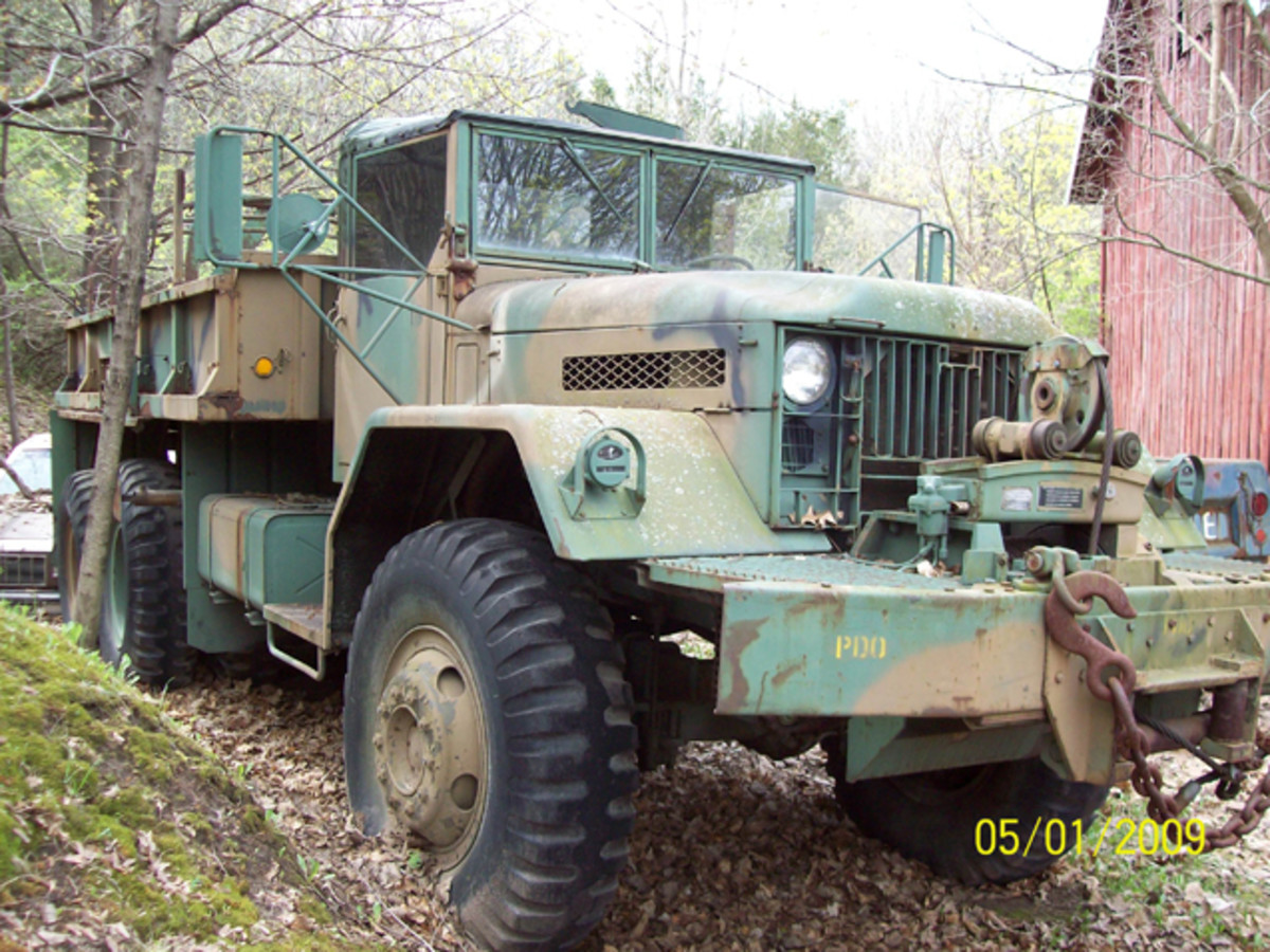 "This is where the M125 rested before the start of the restoration. Robert Anderson sold the big 10-ton to Mark Austin. Though it looked ""ready to roll,"" a lot of work would go into the prime mover before it was ready for its show debut."