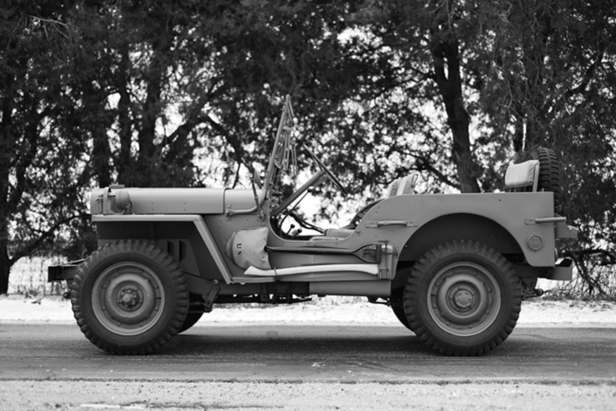In 2011, John P. decided to restore his dad's Jeep to the way it appeared when his dad first started driving it during WWII. He contacted Daniel Gumz of North Judson, Ind., to do a complete restoration.
