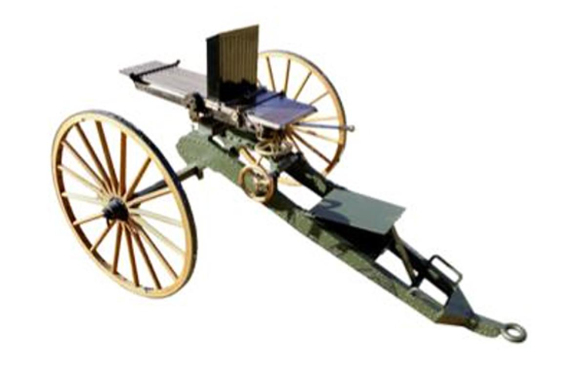 Nordenfelt .43 (Spanish) ten-barrelled center-fire mechanical gun, sold for £81,250 (pre-sale estimate £50,000-70,000)