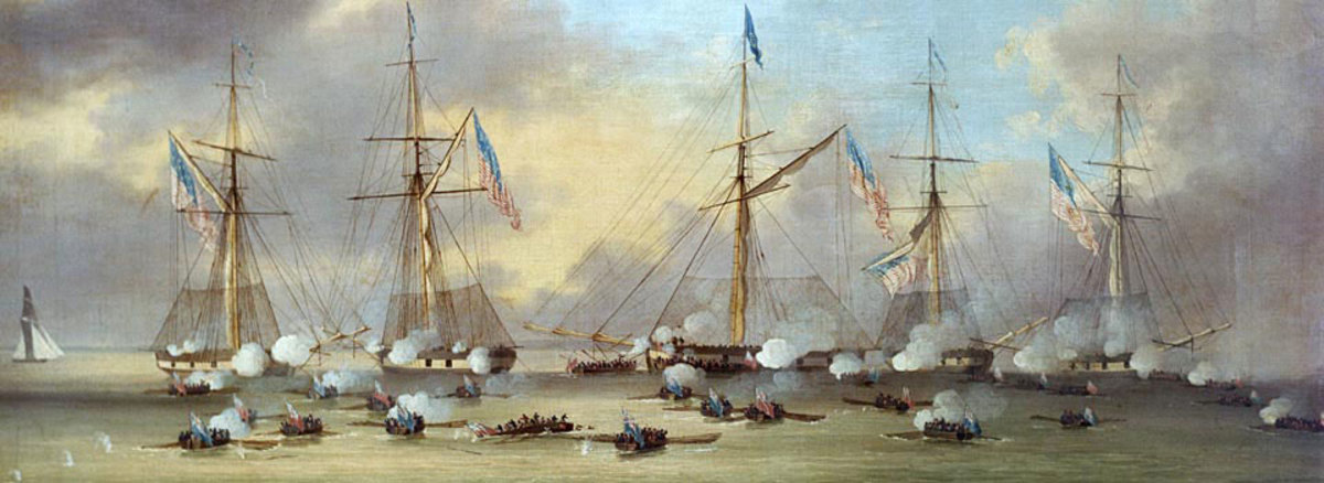 The Battle of Lake Borgne was a naval battle between the Royal Navy and the United States Navy in the American South theatre of the War of 1812. It occurred on 14 December 1814 on Lake Borgne and was part of the British advance on New Orleans.