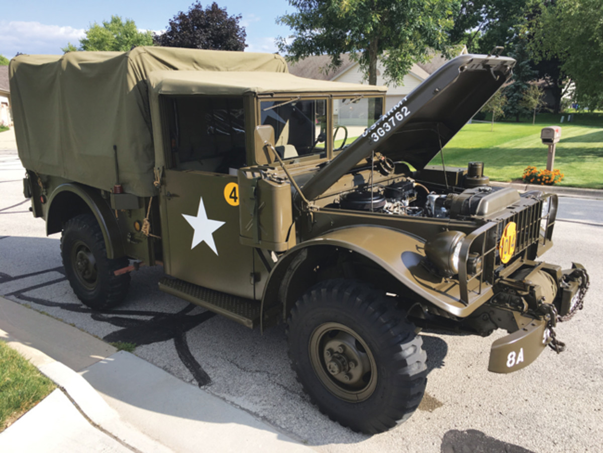 After a couple of MVPA convoys in a Jeep, Gil began to think he would prefer the comfort of a closed cab and cruising ability of an M37. What was supposed to be a casual perusal of parts availability on eBay led to the discovery of a 1962, M37B1 located less than a half-hour from his home. After meeting the owner and making an in-person inspection, Gil decided he was going to win the auction. He did!