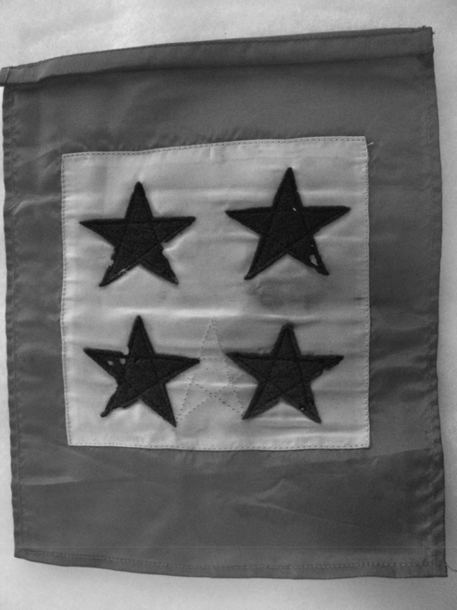This 4 star flag proudly hung in the Mangold home window to represent the service of Helen and her 3 brothers.