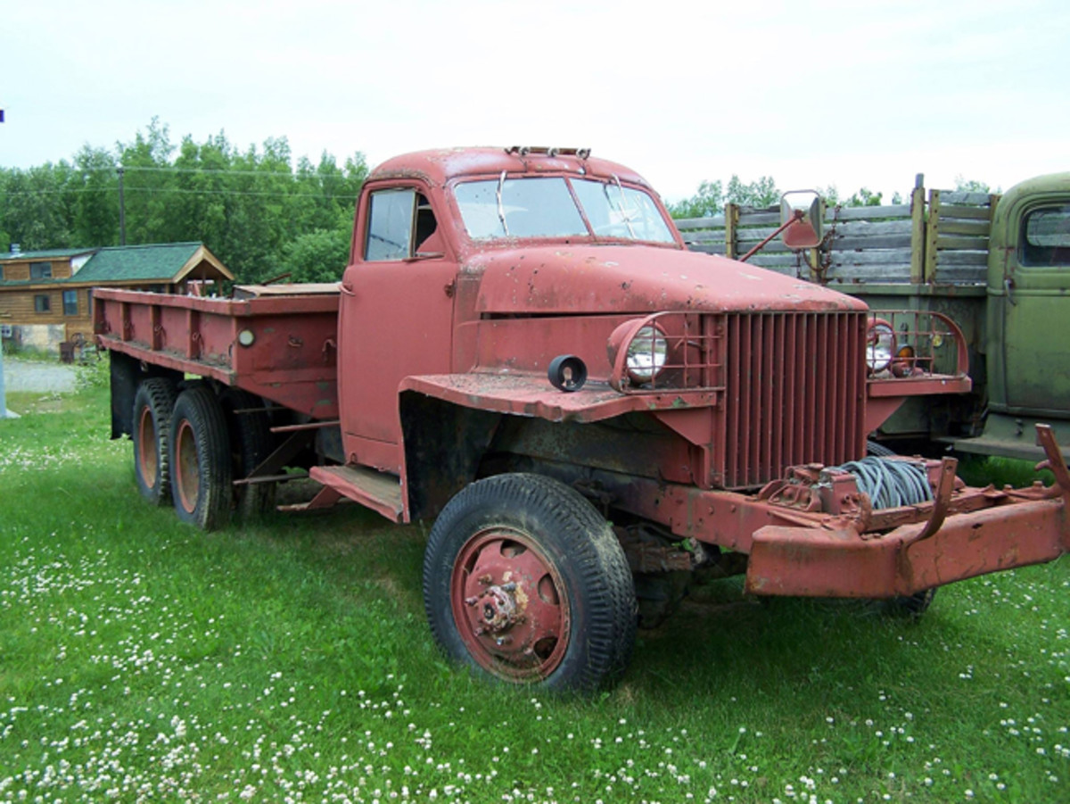 """While many US6 were delivered to America's allies as part of Lend-Lease supplies during WWII, many trucks were also used during the development of the Alaskan Highway. This US6 """"survivor"""" was photographed in 2008 in Wasilla, Alaska. Alfred DeVaux, Jr."""