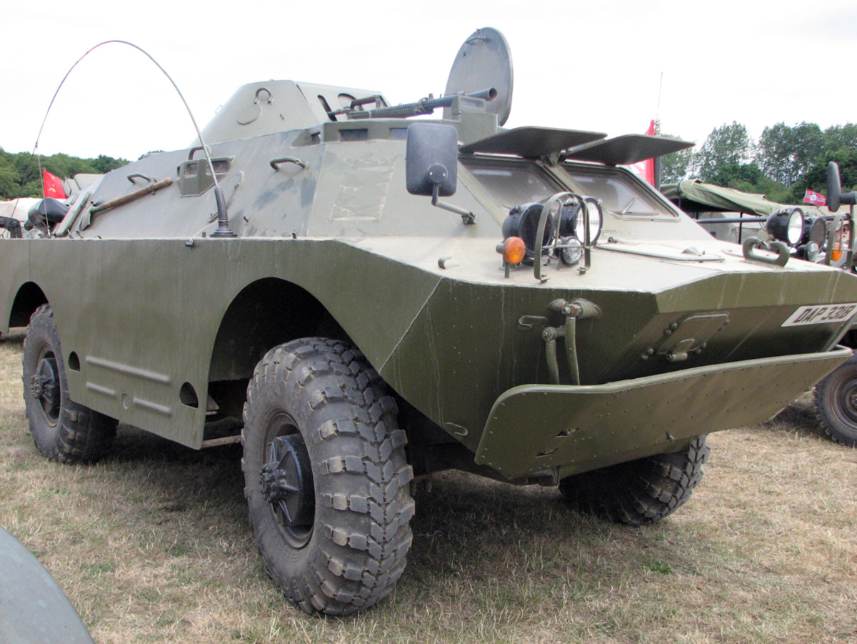 The Soviet-produced BRDM-2 was the standard wheeled reconnaissance vehicle of the Eastern Bloc during thelatter quarter of the 20th century.