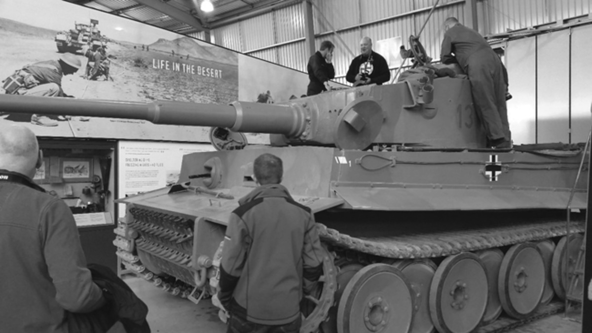 Following a safety briefing, a very excited Green team goes through a hands-on familiarization of Tiger 131 with the crew of staff and volunteers who maintain and run the vehicle.