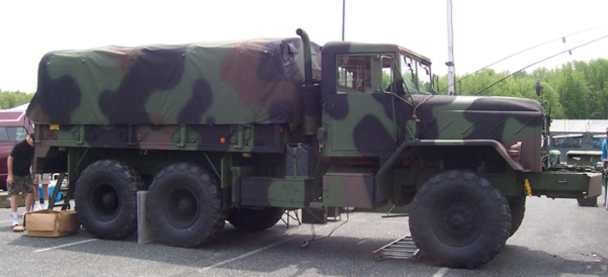 M925A1 5-ton w/winch cargo truck, owned by Bernie Matyniak