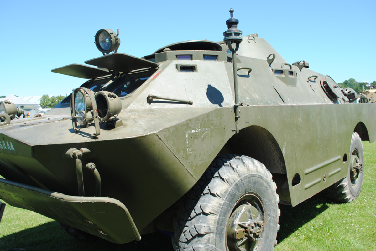 The BRDM-2 was well equipped with vision blocks to allow good visibility to the sides and forward. The infra-red lights allowed night operations.