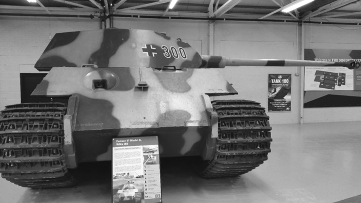 This Königstiger is the second of the pre-production trial series of three vehicles. It has a Porsche/Krupp-designed turret. These turrets were replaced by an improved Henschel design after the initial fifty production vehicles were completed.