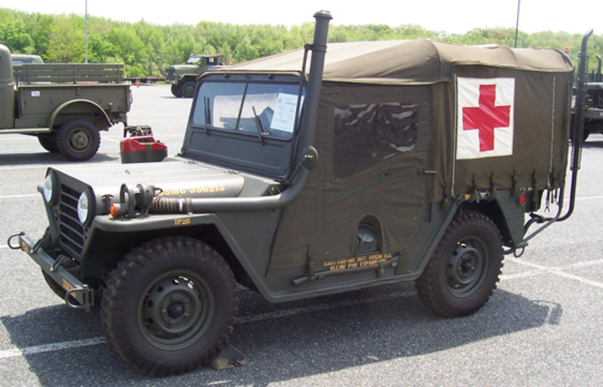 1967 Ford M718 jeep ambulance, owned by T.J. Stallone