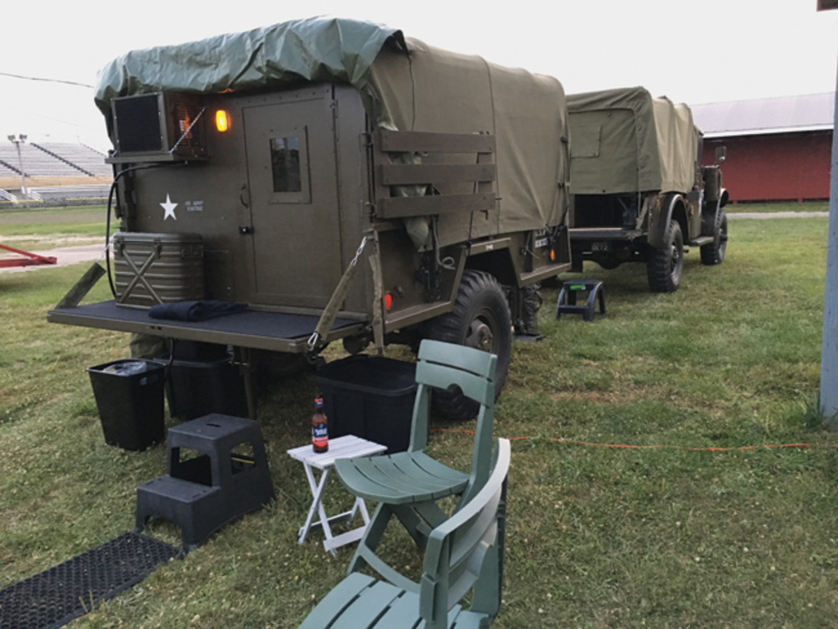The original owner threw in an M101A1 trailer. Gil replaced the original box with a near mint box from an M101A2. Gil was going to be able to adapt it into a camper but retain the original exterior appearance. It was going to be his home for a 5-week Convoy.
