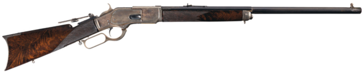 """Documented, Winchester First Model 1873 """"One of One Thousand"""" Lever Action Rifle with Factory Letter"""