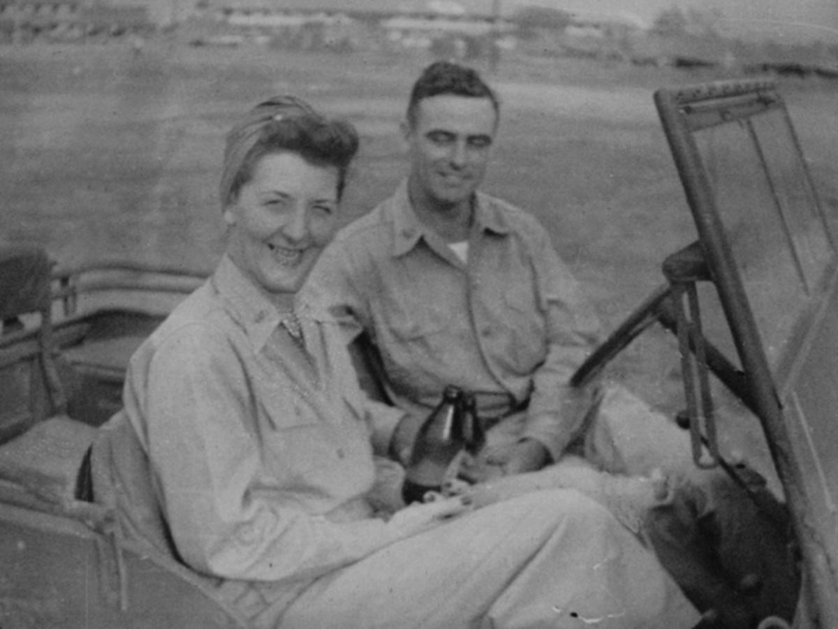 Mangold with Lt. Col. Robert Auten.