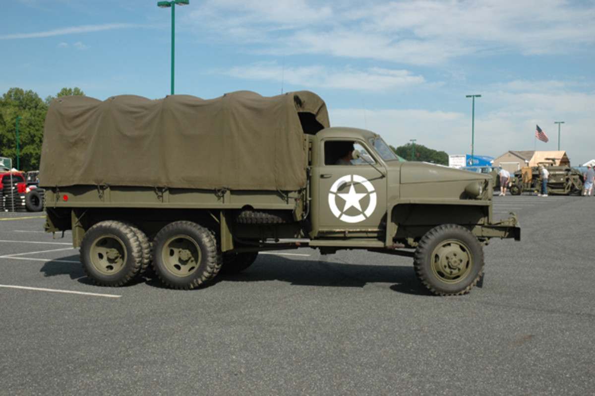 Initially, the both the long and short wheelbase US6 cargo trucks were equipped with all-steel beds. As the war wore on, however, steel shortages resulted in wooden and composite wood and steel beds being used as seen on this restored example belonging to David Firstman.