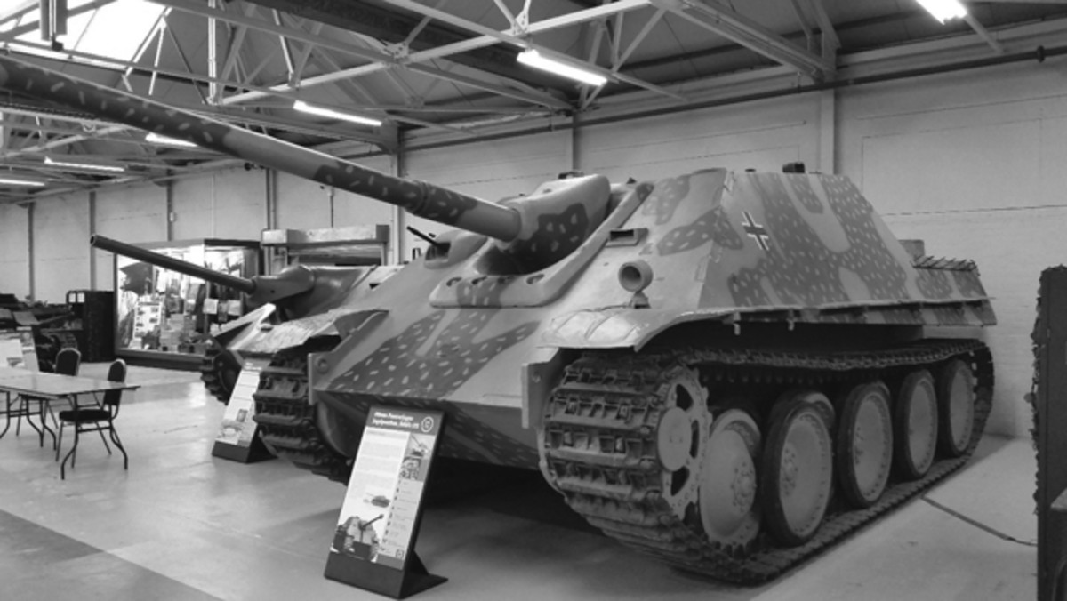 The museum's late production Jagdpanther was assembled by a British team in a captured factory. The museum regards this as a reference vehicle.