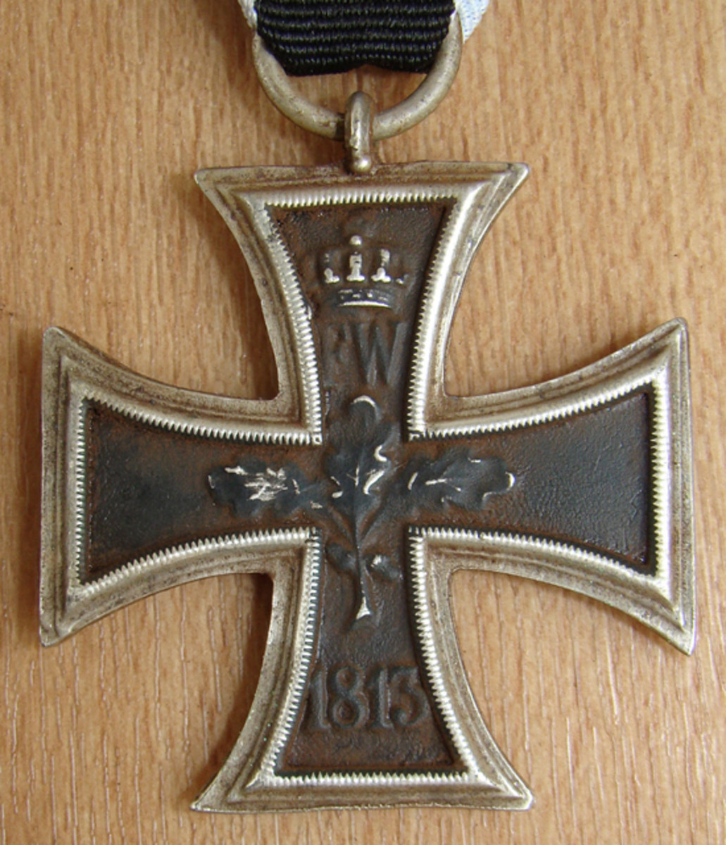 The fake crosses have been artificially aged to appear used and slightly rusted.