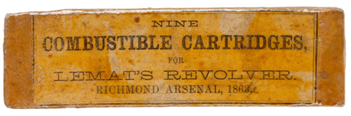 Packet of Nine Combustible Cartridges for LeMat's Revolver