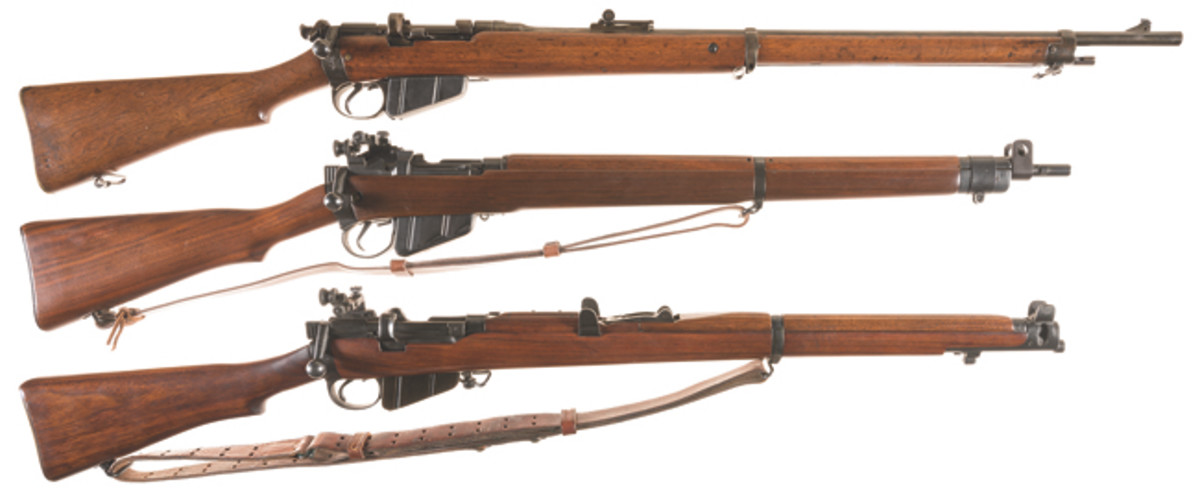 LOT2580-Collector's Lot of Three British Bolt Action Military Rifles