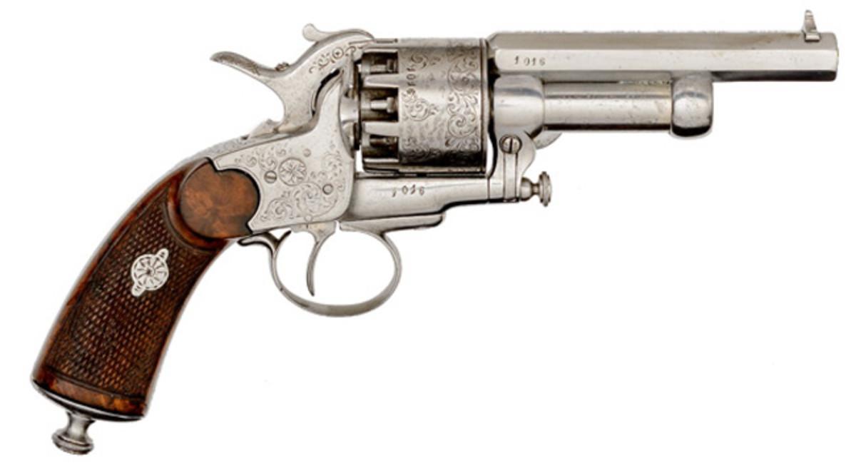 Engraved Paris Second Model LeMat Baby Percussion Revolver
