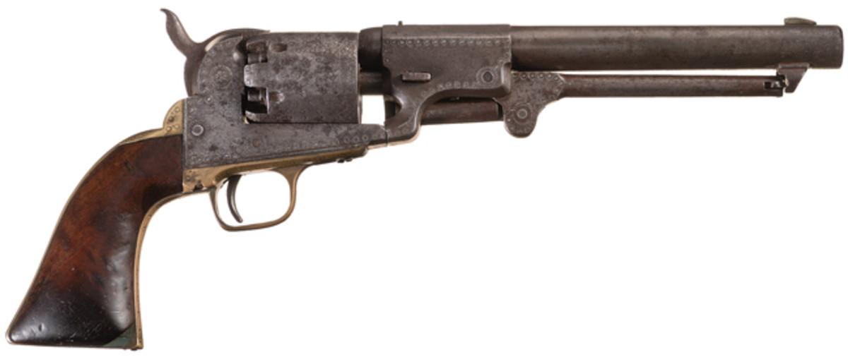 Extremely Rare, IDENTIFIED and FRESH TO THE MARKET Engraved Confederate J.H. Dance & Brothers .44 Caliber Dragoon Percussion Revolver - Photo RIAC