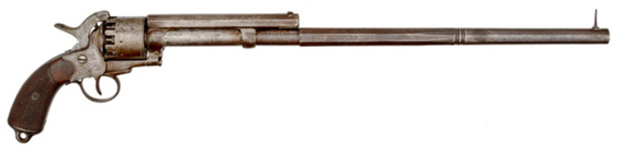 Engraved LeMat Percussion Revolver with LeMat Made Extension Barrel
