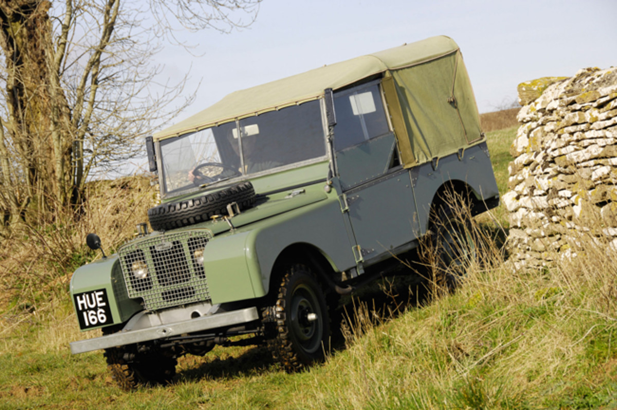 The 1948 Series I versions were inspired by the U.S.-built Willys Jeep, which blanketed Europe after D-Day.