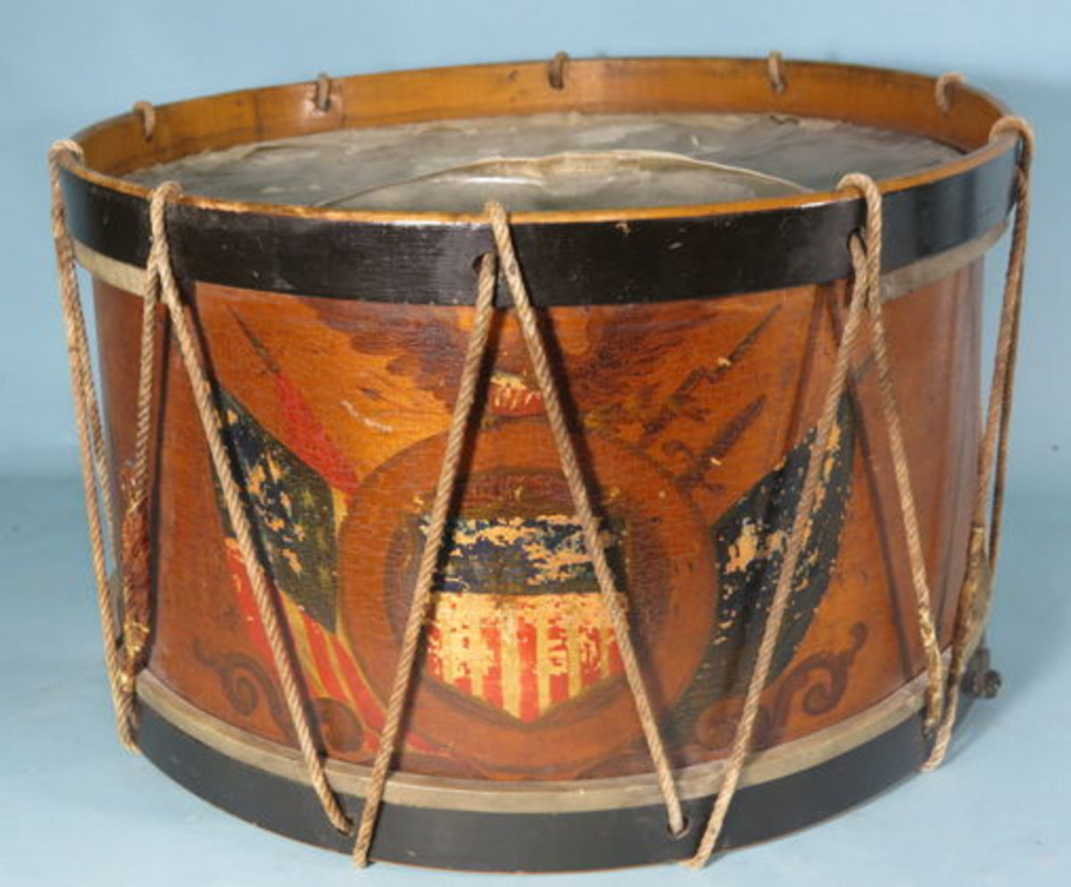 LOT 154: Post Civil War drum.