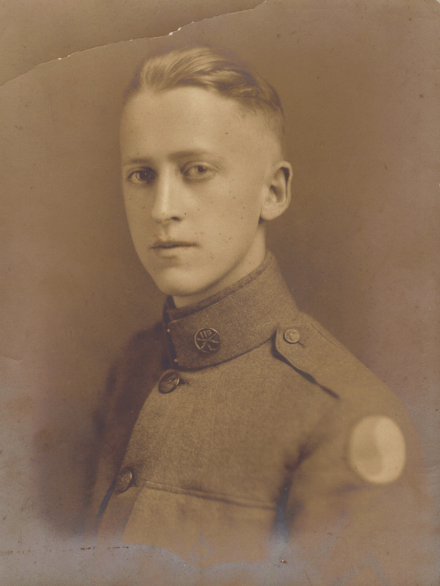 Sergeant John Hickson Jr, a Virginia National Guard Doughboy from the 116th Infantry Regiment. Hickson's face served as the model for the Minuteman statue.