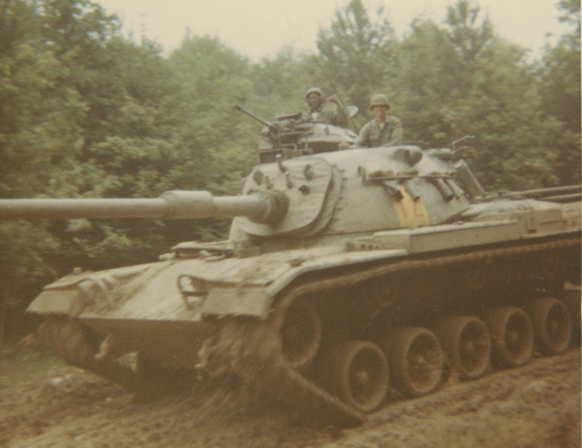 Taken during his time in active duty with the 3rd Armor Division, Butch coming back from the field near Friedberg, West Germany, August 1968.