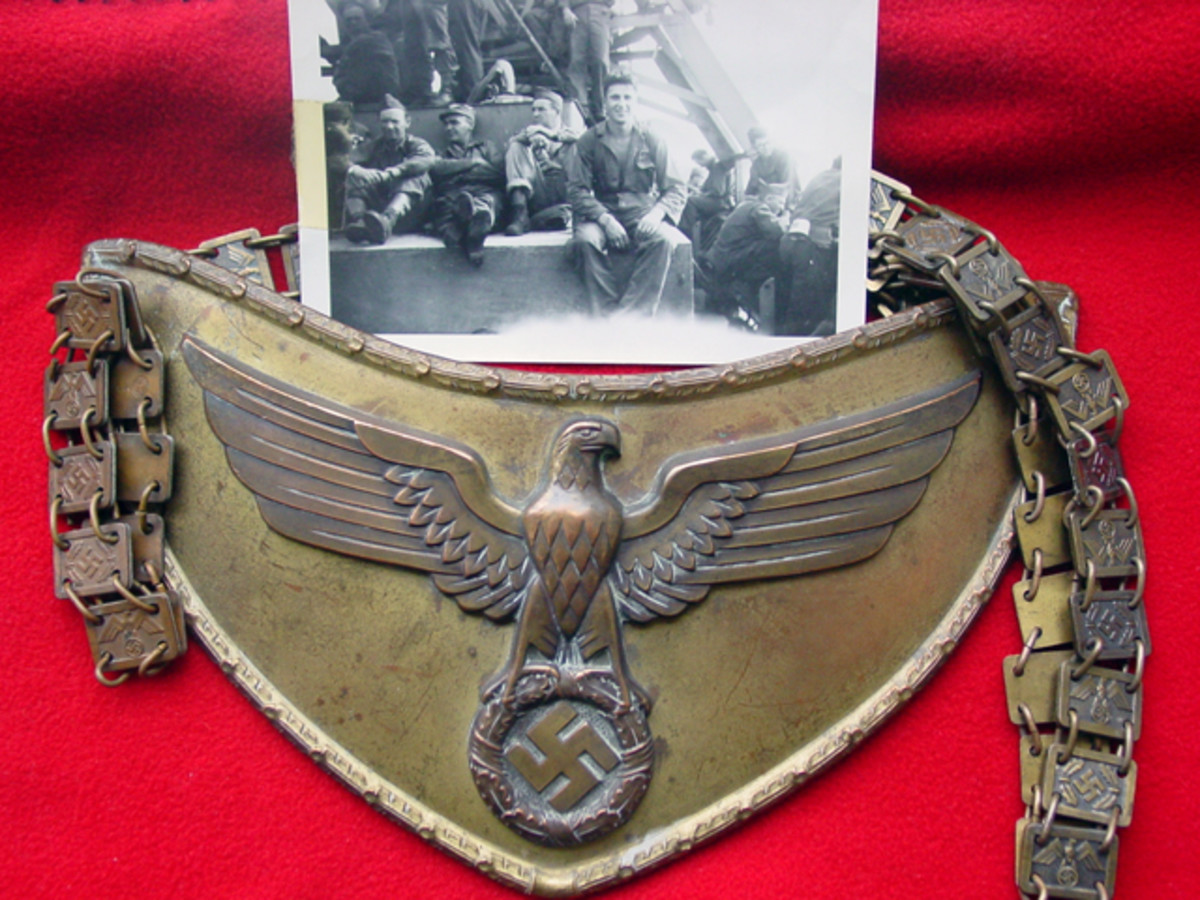 """It wasn't until I attended an OVMS show that I noticed a gorget with the same square links that comprised my grandfather's bracelet. After all these years, I now knew the origin of my """"favorite find."""""""
