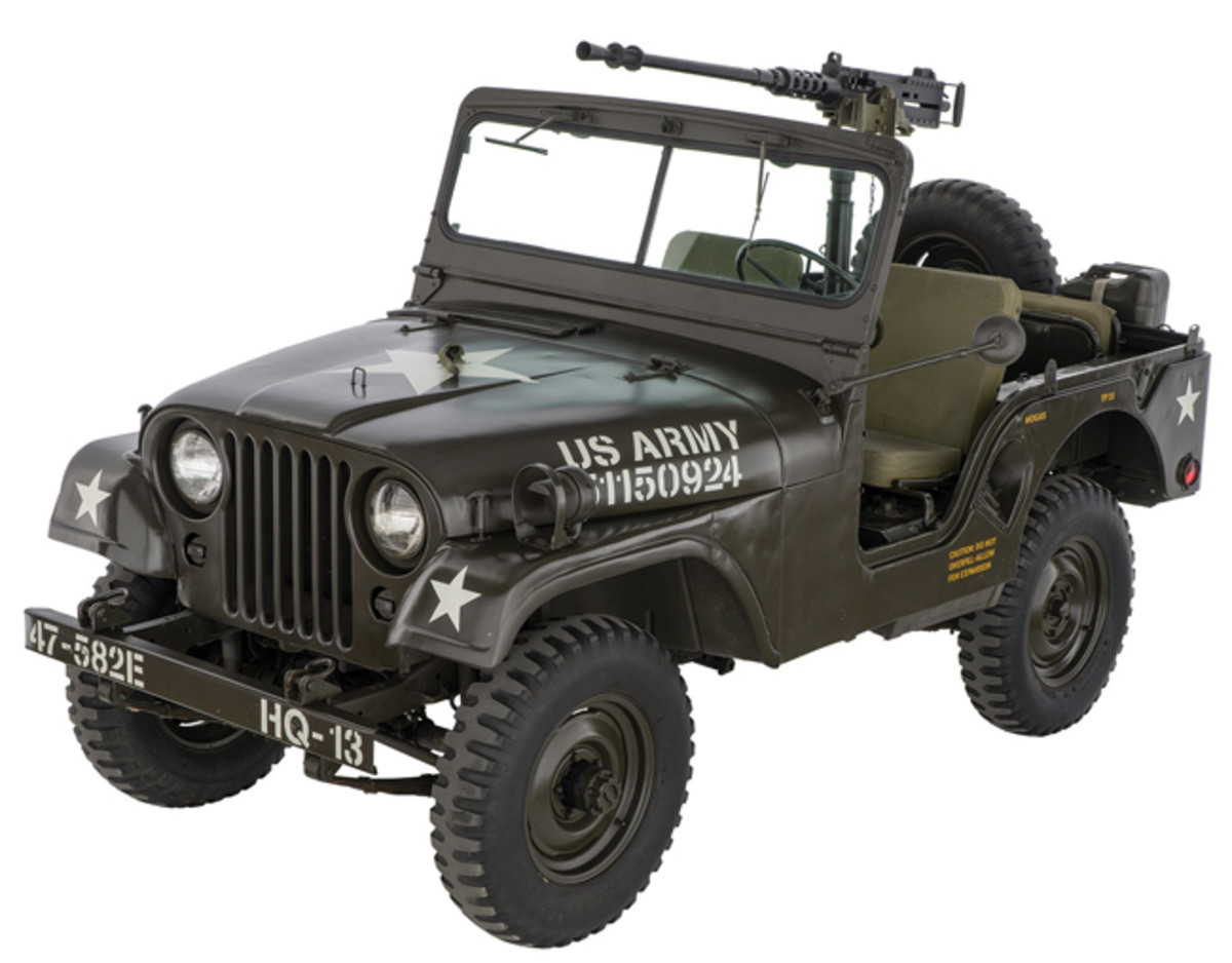 Lot 1392: U.S. Willys M38A1 Jeep. Sold for $21,850