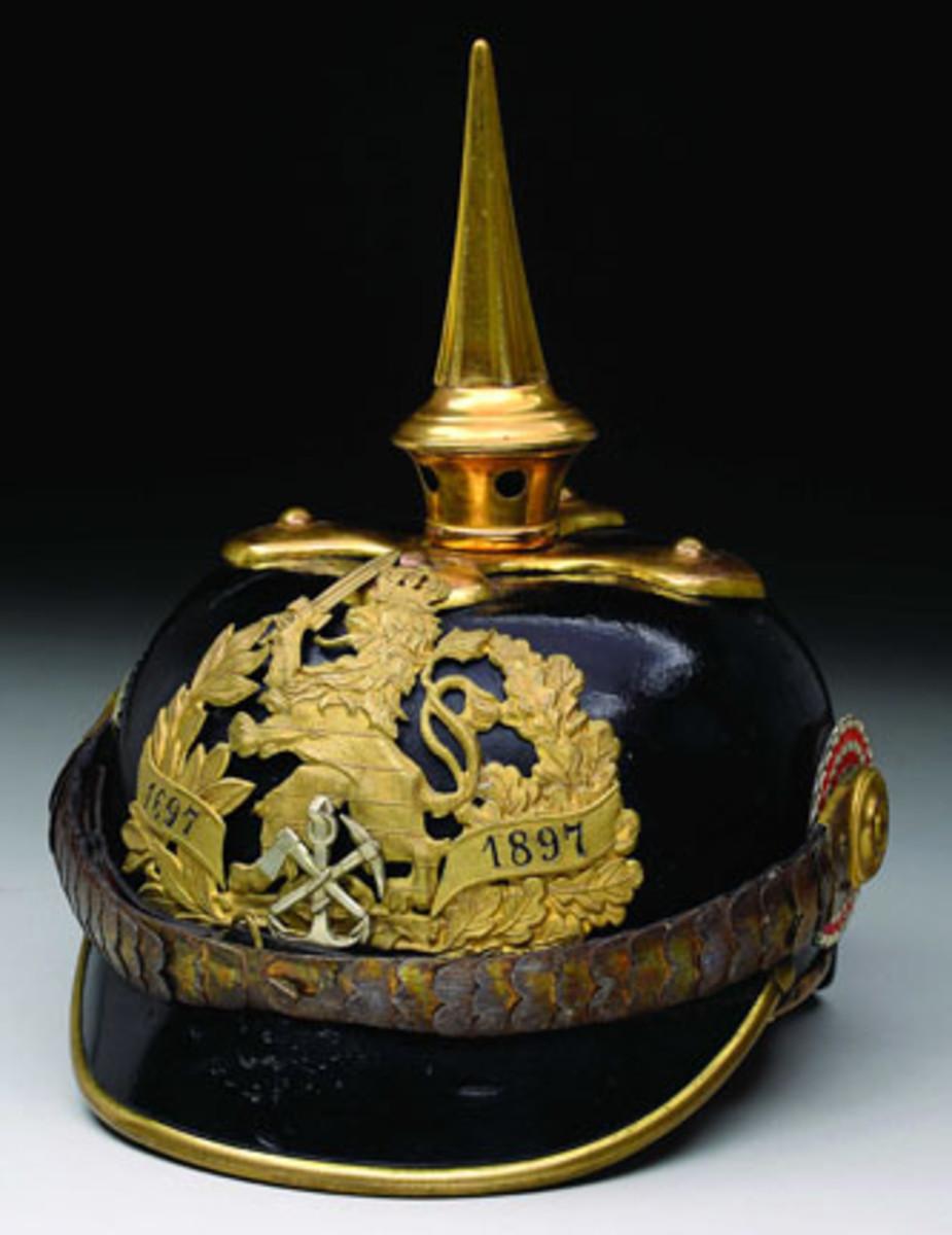 Rare Mecklenburg-Schwerin Grand Duchey Gen. Officer Helmet ca. 1895 (est. $4,000-6,000) Sold for $25,300. (Haskell Collection)