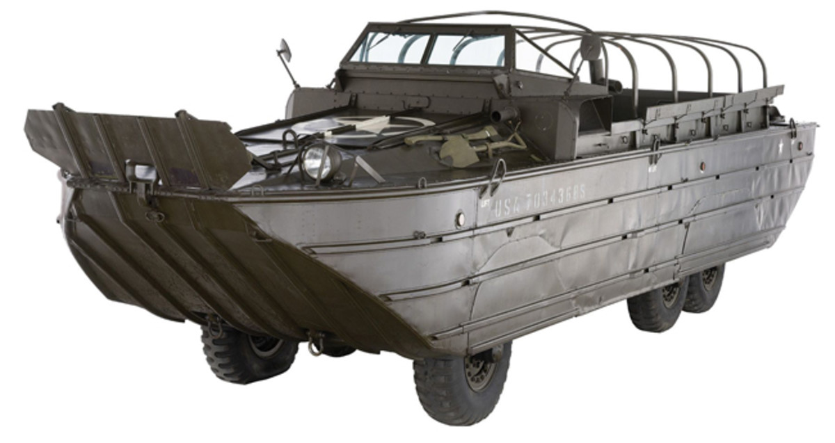 Lot 1391: World War II U.S. GMC DUKW 6X6. Sold for $46,000