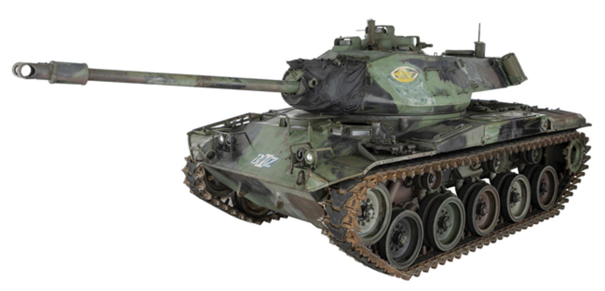Lot 1370: U.S. M41A1 Walker Bulldog Light Tank. Sold For $230,000