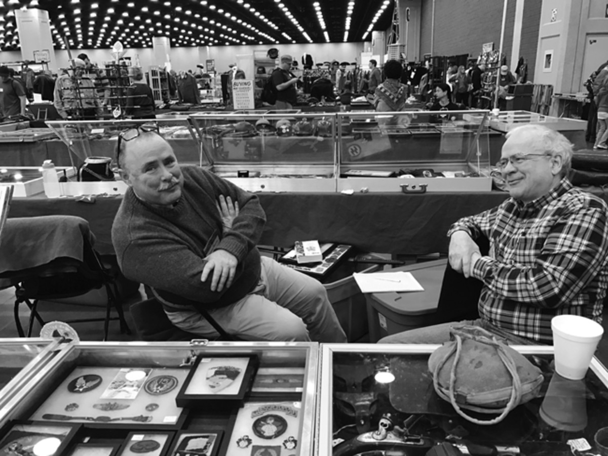 Stephen Rogers (right) has been actively dealing in 19th Century militaria and Americana for the past 25 years. He is seen here with another icon of the collecting world, Dan Griffin.