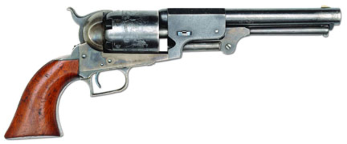 Extremely fine Civilian Colt 2nd Mod Dragoon (est. $50,000-60,000) Sold for $77,625. (Flayderman Collection)