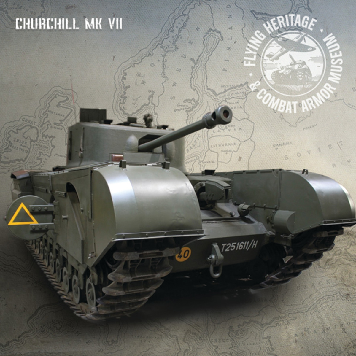 The most recent addition to FHCAM's motorpool is an iconic WWII Churchill Tank.
