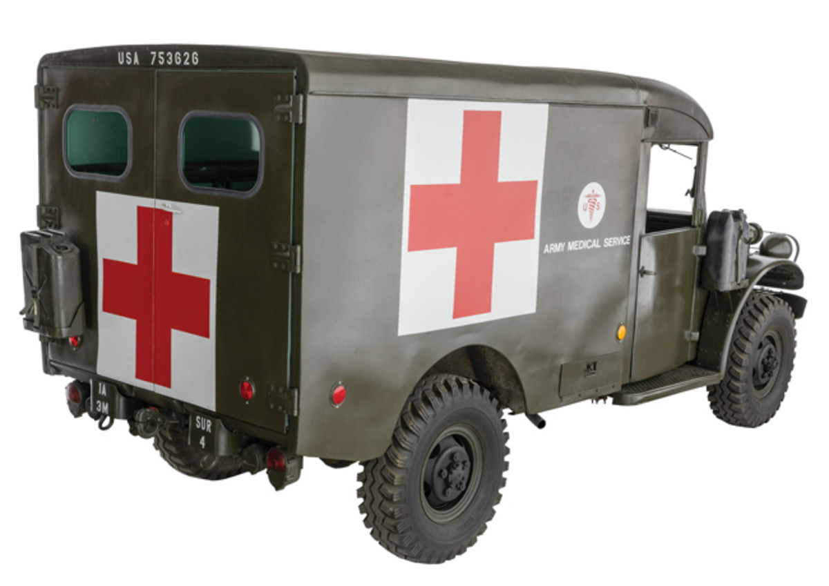 Lot 1393: Korean War- era U.S. Dodge M-43 Ambulance. Sold for $21,850