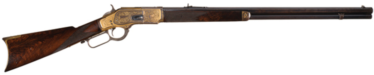 """The Midas Bull 1 of 1,000"""" Winchester 1873 rifle"""