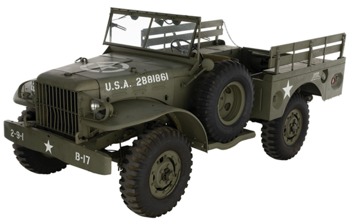 Lot 1390: World War II U.S. Dodge WC-51 Weapons Carrier. Sold for $34,500