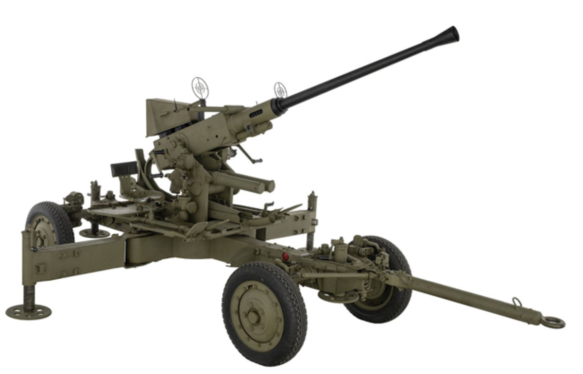 Lot 1422: World War II U.S. Bofors 40 mm. Sold for 23,000