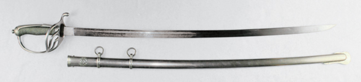 There are two known makers marks found on examples of the rare Philippine Constabulary sword (shown) — but neither has been identified.