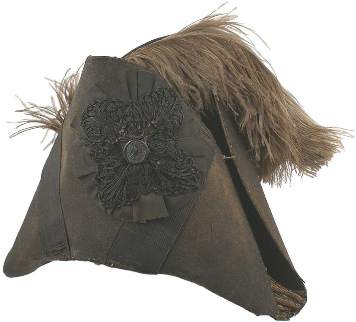 American War of 1812 chapeau de bras, triangle form with folded brims (Opening bid: $1,250).