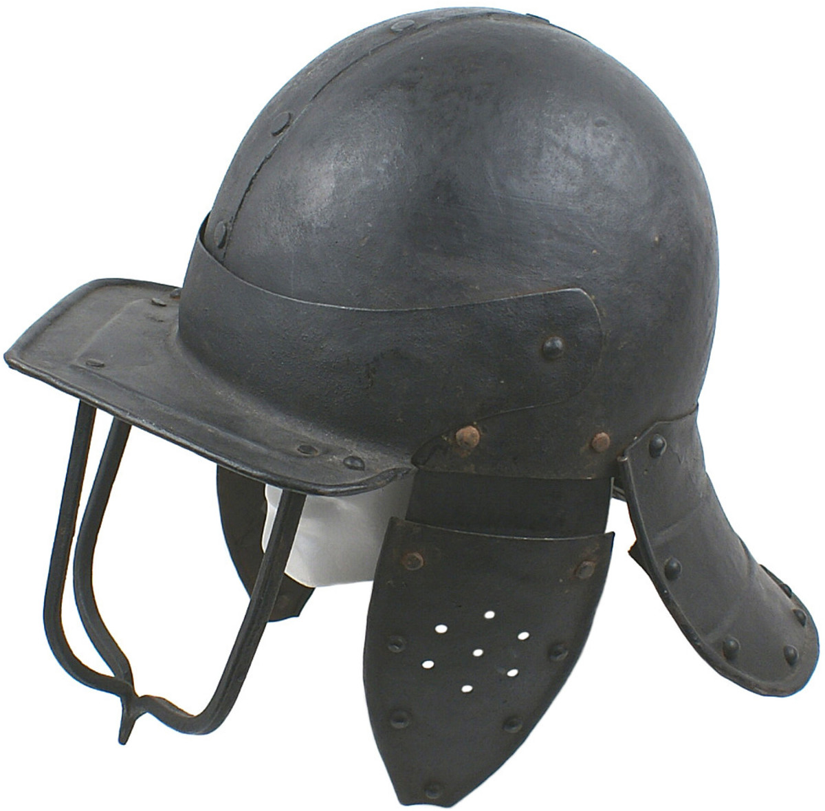 Extremely rare early 17th century English lobster tail Cromwellian helmet (Opening bid: $2,000).