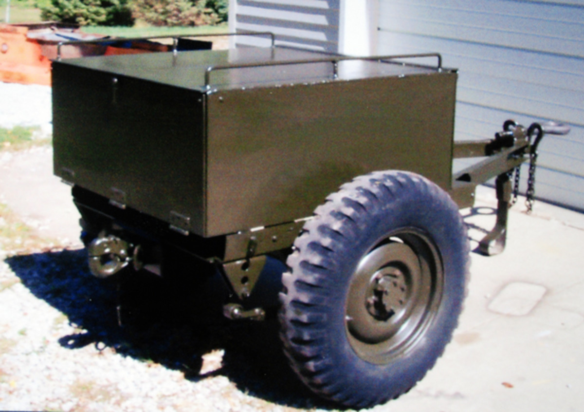The rebuild included a pintle on the rear of the trailer for attaching the 75mm pack howitzer.