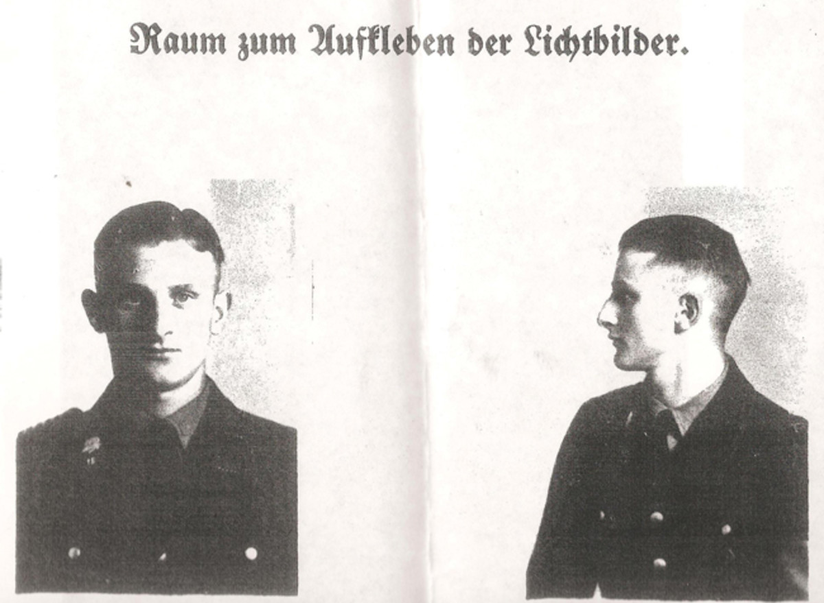 Photos of SS-TV member Günther Wiese taken from his official record file. Courtesy of Mark Pulaski