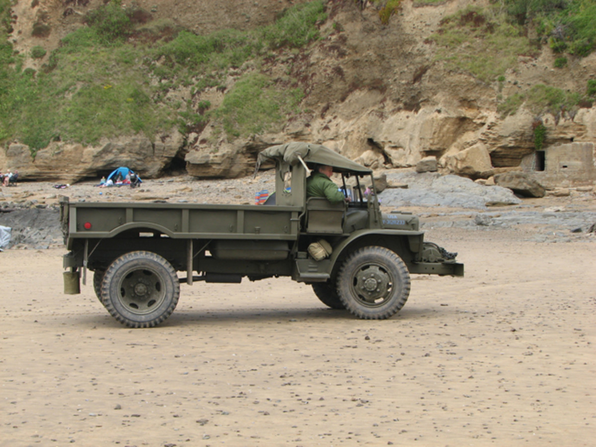 ld Ugly on the beach at Saunton Sands in Devon, England. During WWII, US troops preparing for D-Day rehearsed for the invasion on this beach.